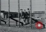 Image of prisoners of camp Hanover Germany, 1945, second 18 stock footage video 65675073890