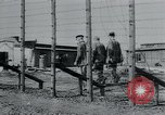 Image of prisoners of camp Hanover Germany, 1945, second 19 stock footage video 65675073890