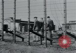 Image of prisoners of camp Hanover Germany, 1945, second 20 stock footage video 65675073890