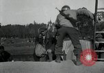 Image of German civilians, soldiers and released Allied prisoners cross bridge Grimma Germany, 1945, second 23 stock footage video 65675073902