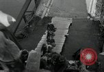 Image of German civilians, soldiers and released Allied prisoners cross bridge Grimma Germany, 1945, second 42 stock footage video 65675073902