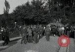 Image of German civilians, soldiers and released Allied prisoners cross bridge Grimma Germany, 1945, second 61 stock footage video 65675073902