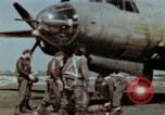 Image of B-26 Marauder bomber crew flaunting standard procedures Germany, 1945, second 21 stock footage video 65675073918