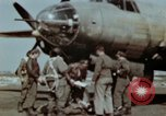 Image of B-26 Marauder bomber crew flaunting standard procedures Germany, 1945, second 25 stock footage video 65675073918