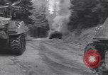 Image of United States M-4 tank on fire Wegscheid Germany, 1945, second 7 stock footage video 65675075890
