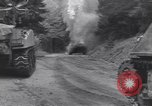 Image of United States M-4 tank on fire Wegscheid Germany, 1945, second 8 stock footage video 65675075890