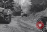 Image of United States M-4 tank on fire Wegscheid Germany, 1945, second 9 stock footage video 65675075890