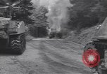Image of United States M-4 tank on fire Wegscheid Germany, 1945, second 10 stock footage video 65675075890