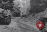 Image of United States M-4 tank on fire Wegscheid Germany, 1945, second 11 stock footage video 65675075890
