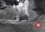 Image of United States M-4 tank on fire Wegscheid Germany, 1945, second 20 stock footage video 65675075890