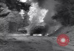 Image of United States M-4 tank on fire Wegscheid Germany, 1945, second 23 stock footage video 65675075890