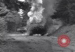 Image of United States M-4 tank on fire Wegscheid Germany, 1945, second 28 stock footage video 65675075890