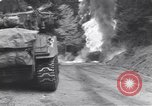 Image of United States M-4 tank on fire Wegscheid Germany, 1945, second 29 stock footage video 65675075890