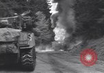 Image of United States M-4 tank on fire Wegscheid Germany, 1945, second 35 stock footage video 65675075890