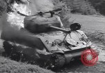 Image of United States M-4 tank on fire Wegscheid Germany, 1945, second 42 stock footage video 65675075890
