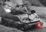 Image of United States M-4 tank on fire Wegscheid Germany, 1945, second 44 stock footage video 65675075890