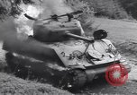 Image of United States M-4 tank on fire Wegscheid Germany, 1945, second 45 stock footage video 65675075890