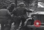 Image of Medic tends to wounded American soldier Wegscheid Germany, 1945, second 52 stock footage video 65675075891