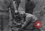 Image of wounded US Soldier tank crew World War 2 Wegscheid Germany, 1945, second 32 stock footage video 65675075892