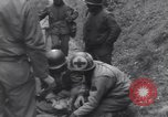 Image of wounded US Soldier tank crew World War 2 Wegscheid Germany, 1945, second 33 stock footage video 65675075892