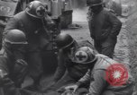 Image of wounded US Soldier tank crew World War 2 Wegscheid Germany, 1945, second 35 stock footage video 65675075892