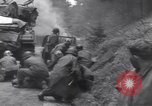 Image of wounded US Soldier tank crew World War 2 Wegscheid Germany, 1945, second 39 stock footage video 65675075892