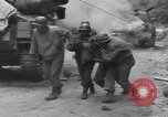 Image of wounded US Soldier tank crew World War 2 Wegscheid Germany, 1945, second 47 stock footage video 65675075892