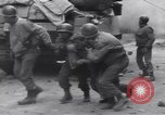Image of wounded US Soldier tank crew World War 2 Wegscheid Germany, 1945, second 48 stock footage video 65675075892