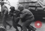 Image of wounded US Soldier tank crew World War 2 Wegscheid Germany, 1945, second 49 stock footage video 65675075892