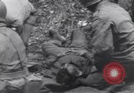 Image of wounded US Soldier tank crew World War 2 Wegscheid Germany, 1945, second 55 stock footage video 65675075892