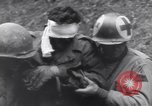 Image of wounded US Soldier tank crew World War 2 Wegscheid Germany, 1945, second 58 stock footage video 65675075892