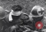 Image of wounded US Soldier tank crew World War 2 Wegscheid Germany, 1945, second 59 stock footage video 65675075892
