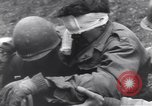 Image of wounded US Soldier tank crew World War 2 Wegscheid Germany, 1945, second 61 stock footage video 65675075892