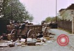 Image of U.S. tank firing at building Germany, 1945, second 19 stock footage video 65675076294
