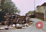 Image of U.S. tank firing at building Germany, 1945, second 20 stock footage video 65675076294