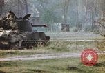 Image of U.S. tank firing at building Germany, 1945, second 41 stock footage video 65675076294