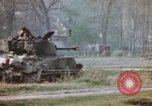 Image of U.S. tank firing at building Germany, 1945, second 45 stock footage video 65675076294