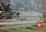 Image of U.S. tank firing at building Germany, 1945, second 54 stock footage video 65675076294