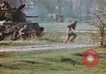 Image of U.S. tank firing at building Germany, 1945, second 59 stock footage video 65675076294