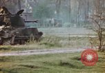 Image of U.S. tank firing at building Germany, 1945, second 62 stock footage video 65675076294