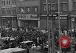 Image of US 16th Armored Division in Pilsen Czechoslovakia Pilsen Czechoslovakia, 1945, second 12 stock footage video 65675077026