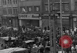 Image of US 16th Armored Division in Pilsen Czechoslovakia Pilsen Czechoslovakia, 1945, second 17 stock footage video 65675077026