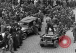 Image of US 16th Armored Division in Pilsen Czechoslovakia Pilsen Czechoslovakia, 1945, second 21 stock footage video 65675077026