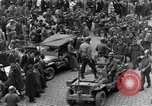 Image of US 16th Armored Division in Pilsen Czechoslovakia Pilsen Czechoslovakia, 1945, second 22 stock footage video 65675077026