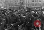 Image of US 16th Armored Division in Pilsen Czechoslovakia Pilsen Czechoslovakia, 1945, second 38 stock footage video 65675077026