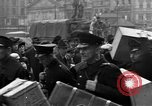 Image of US 16th Armored Division in Pilsen Czechoslovakia Pilsen Czechoslovakia, 1945, second 48 stock footage video 65675077026