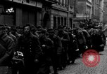 Image of US 16th Armored Division in Pilsen Czechoslovakia Pilsen Czechoslovakia, 1945, second 54 stock footage video 65675077026
