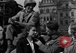 Image of American soldiers Pilsen Czechoslovakia, 1945, second 34 stock footage video 65675077027