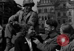 Image of American soldiers Pilsen Czechoslovakia, 1945, second 37 stock footage video 65675077027