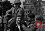 Image of American soldiers Pilsen Czechoslovakia, 1945, second 41 stock footage video 65675077027